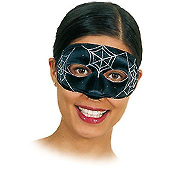 Maske Spinnennetz Accessoire Karneval Fasching Weiberfastnacht