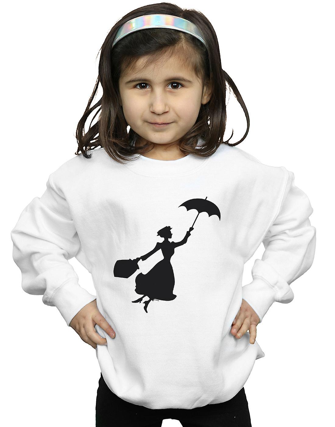 Disney Girls Mary Poppins Flying Silhouette Sweatshirt