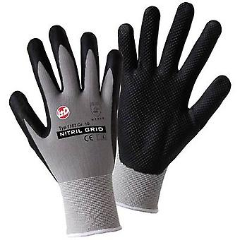 L+D worky NITRIL GRID 1167 Nylon Protective glove Size (gloves): 10, XL EN 388:2016 CAT II 1 Pair