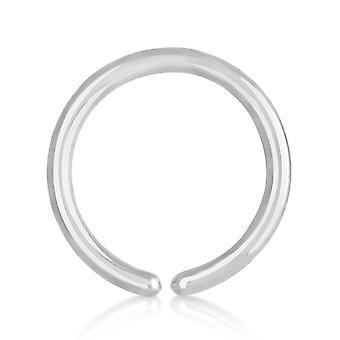 Nos Hoop pierścień tytanowy 0,8 mm, Otwórz Hoop kolczyk do nosa | 6 - 10 mm