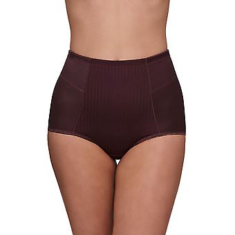Susa 5233-128 Women's Cremona Mauve Purple Striped Full Panty Highwaist Brief