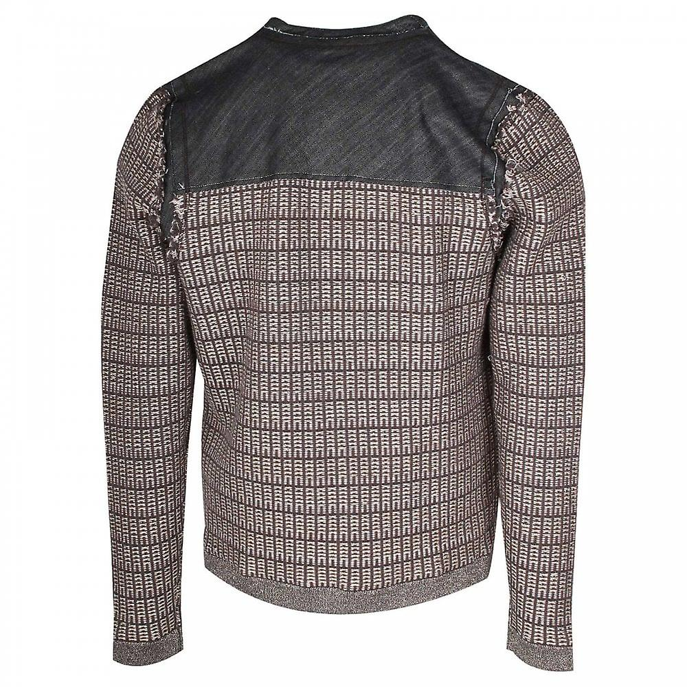 Tuzzi Denim & Woven Cotton Mix Button Jacket