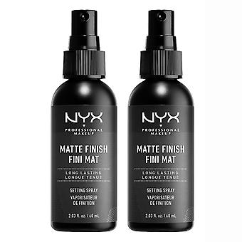 2-pack NYX PROF. MAKEUP Matte Finish Setting Spray