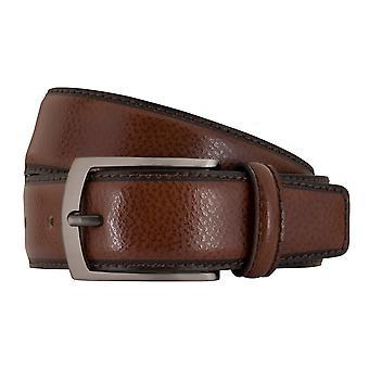 MIGUEL BELLIDO clasico belts men's belts leather belt Cognac 7696