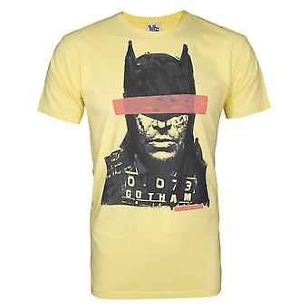 Junk Food Batman Mugshot Men's T-Shirt Yellow