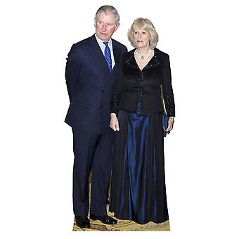 Prince Charles and Camilla Parker Bowles Lifesize Cardboard Cutout / Standee / Standup