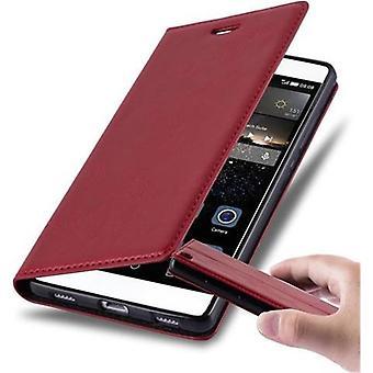 Cadorabo Hülle für Huawei P8 Case Cover - Handyhülle mit Magnetverschluss, Standfunktion und Kartenfach – Case Cover Schutzhülle Etui Tasche Book Klapp Style