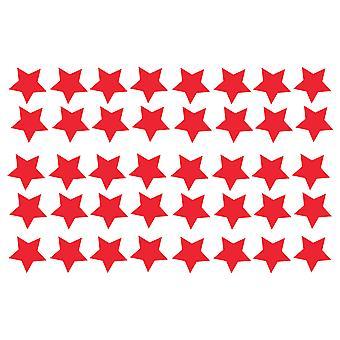 Stor pakke med 40 Vinyl Star klistremerker