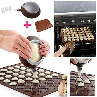 Baking Set with Mat in Silicone | Macarons Cake Mould with Piping Bag | Must-have Accessory for Delicious Macaroons