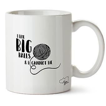 Hippowarehouse I Like Big Balls & I Cannot Lie Printed Mug Cup Ceramic 10oz