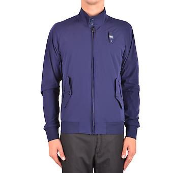 Blauer Ezbc068008 Men's Blue Nylon Outerwear Jacket