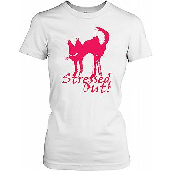 Stresset - buet kat med ryg damer T Shirt