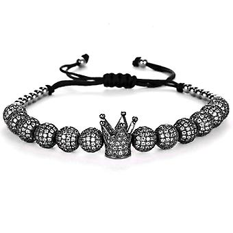 Bracelet-Crown and black beads