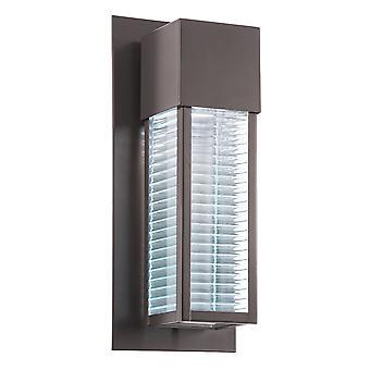 Stead-1 Light Outdoor Wall Lantern-Bronze Finish-KL/SOREL2/M LED
