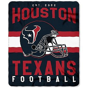 Houston Texans NFL Northwest Team Stripe Fleece Throw