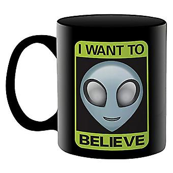 Aliens I Want to Believe Ceramic Mug
