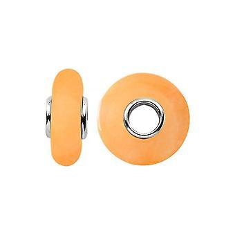 Storywheels الفضة & أورانج Agate سحر S353TAN