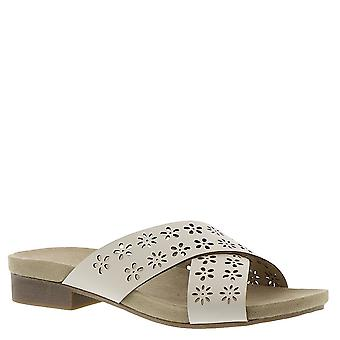Rialto Womens Alix Fabric Open Toe Casual Slide Sandals