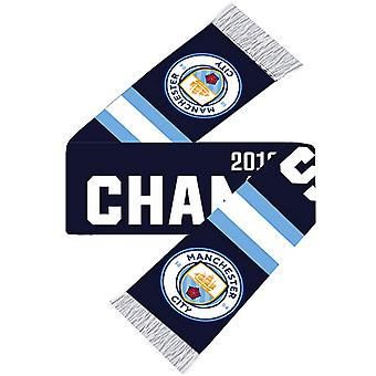 Manchester City FC Champions 2018/19 Écharpe