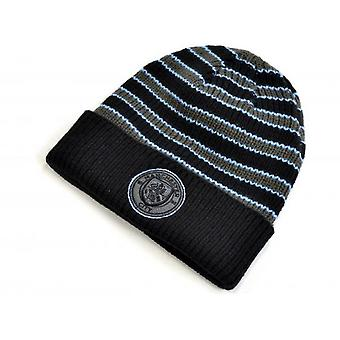 Manchester City FC Charcoal Striped Knit Hat