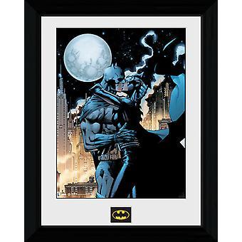 Batman maanlicht Kiss ingelijst Collector Print 40x30cm