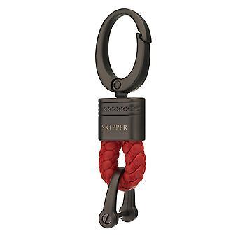 Skipper colgante llavero cuero/nylon rojo 8060