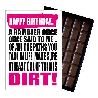 ハイカーランブラーチョコレートグリーティングカードウォーカープレゼントIYF192のための面白い誕生日プレゼントギフト