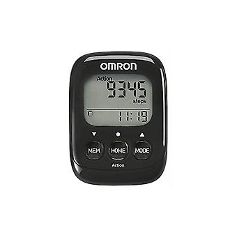 Omron HJ325-EBK Walking Style IV Highly Sensitive 3D Sensor Walking Pedometer