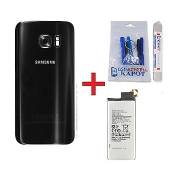 Für Samsung Galaxy S7 Rückabdeckung + Batterie-schwarz