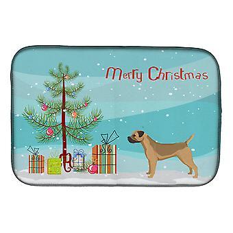 Carolines Schätze CK3523DDM Border Terrier Weihnachtsbaum Schale Trocknen Matte