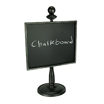 Black Metal Framed Standing Chalkboard Sign