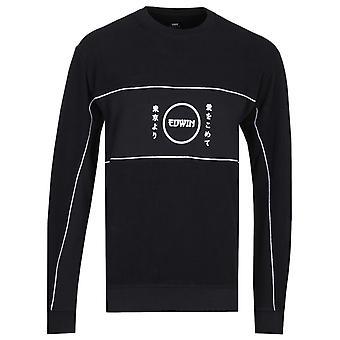 Edwin Gang Schwarz Sweatshirt