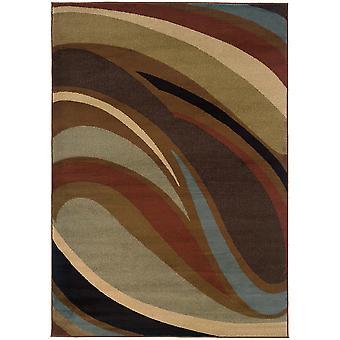 Hudson 2666f brown indoor area rug rectangle 7'8