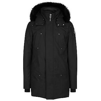 Moose Knuckles Black Stirling Parka Jacket