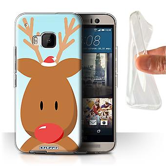 STUFF4 Gel/TPU Case/Cover for HTC One/1 M9/Rudolph/Reindeer/Christmas Character