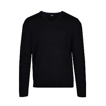 BOSS Athleisure Boss Vallum 1 V Neck Knitwear Black