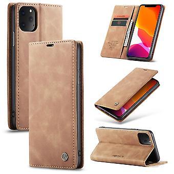 Beschermende case faux leder cover voor Apple iPhone 11 Pro Max beige geval Wallet Case geval