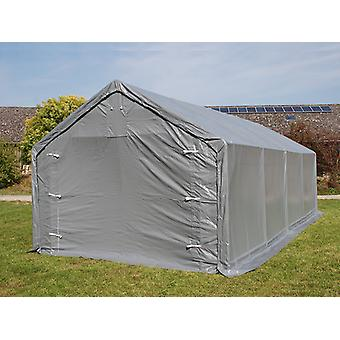 Storage shelter PRO 5x10x2x3.39 m, PE, Grey