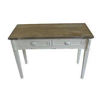 Charles Bentley Lurvet Chic / Distressed fransk Style 2 Skuffe Console / Dressing / Hallway Tabel Hvid