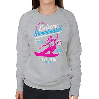 Extreme Snowboard '19 '20 Sestriere France Women's Sweatshirt
