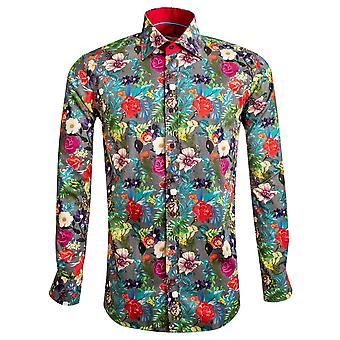 كلاوديو Lugli متعددة باقة الزهور منقوشة طباعة قميص Mens