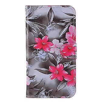 iPhone 11 Pro Max Brieftasche Fall-rote Blume