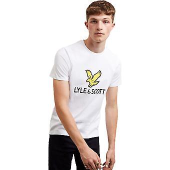 Lyle & Scott Logo Camiseta Blanca 41