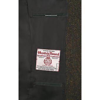Scottish Harris Tweed Mens Green Barleycorn Regular Fit 100% Wool Notch Lapel Tweed Jacket