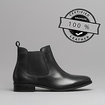 Shuperb Pippa Ladies Leather Chelsea Boots Black
