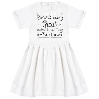 Behind Every Great Baby Is A Truly Amazing Aunt Baby Dress