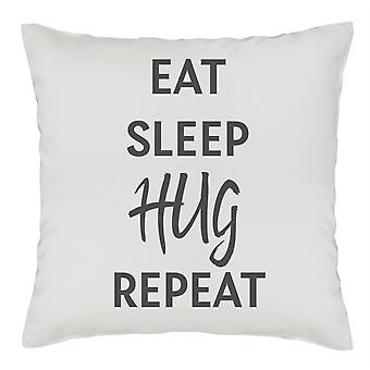 Eat Sleep Hug Repeat - Couverture de coussin