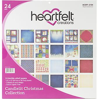 "Heartfelt Creations Double-Sided Paper Pad 12""X12"" 24/Pkg-Candlelit Christmas"