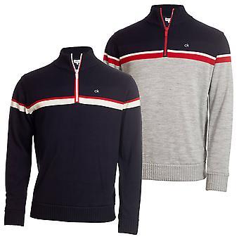 Calvin Klein Golf Mens Compass Half Zip Lined Sweater