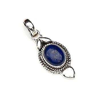 Amuleto de caneta de corrente prata 925 Sterling Silver Lapis Lazuli Blue Stone (Não: MAH 125-06)